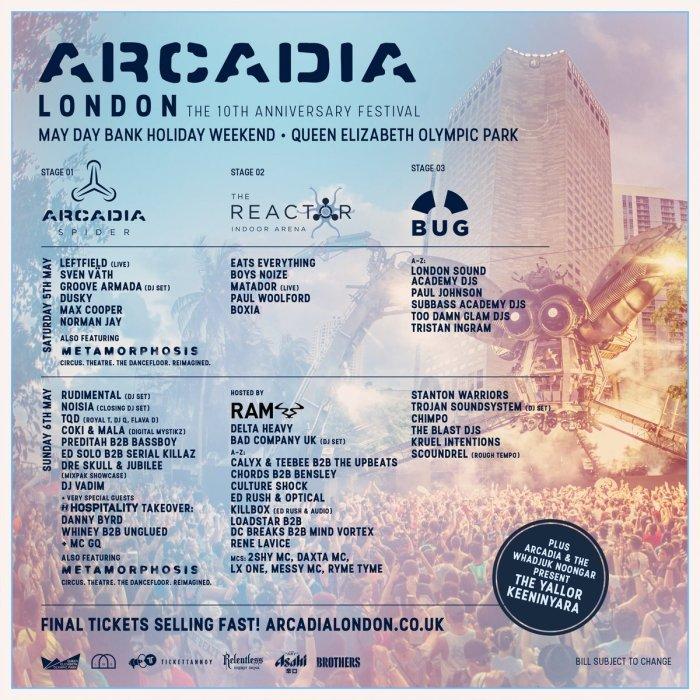 Arcadia line up